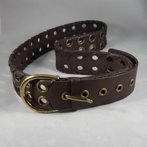 Michael Kors Vintage Brown Leather Belt